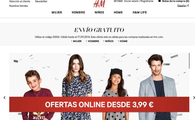 H&M inaugura hoy jueves 21, su tienda online en Espana
