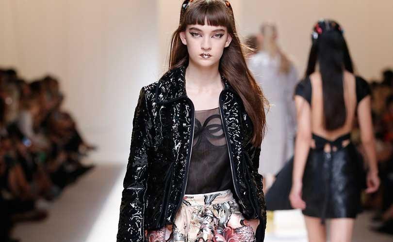 La vida en rosa de Fendi brilla en la semana de la moda de Milan