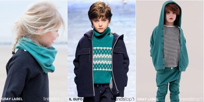 Ключевые цвета - детская одежда FW17-18