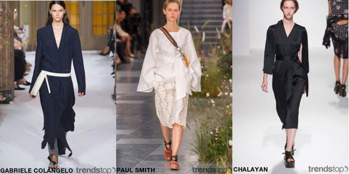 Ключевые темы с подиумов - женская одежда SS17