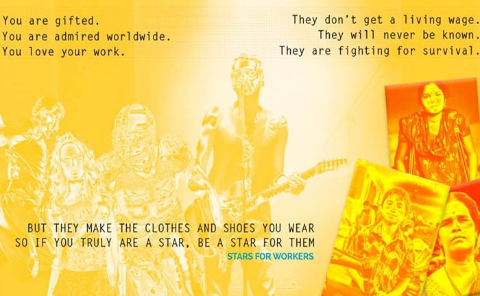 Stars for Workers, por una industria textil libre de explotacion laboral