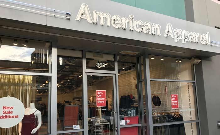 American Apparel prepares for store closures