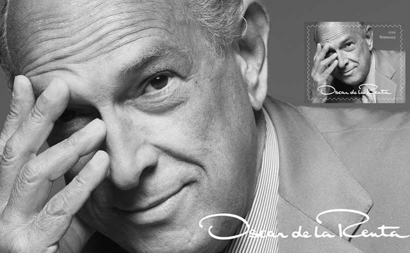 Oscar de la Renta ziert US-Briefmarken