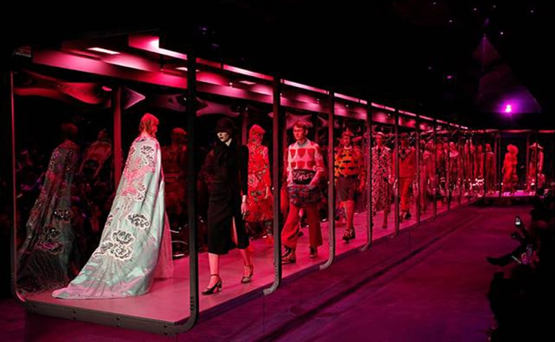 Gucci presents eclectic co-ed collection at Milan Fashion Week