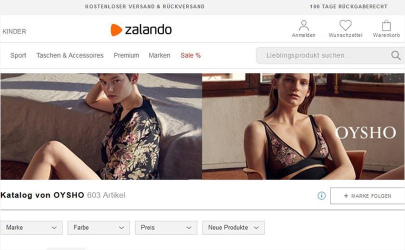 Zalando partners with oysho - Oysho deutschland ...