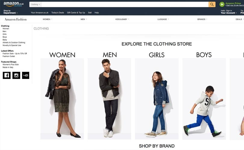 Amazon to launch own fashion brand, compete with UK high street