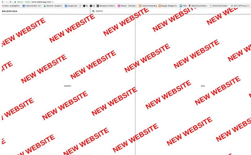 Balenciaga vernieuwt en expandeert e-commerce website