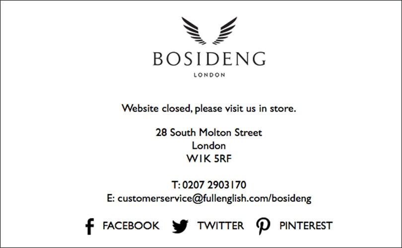 Bosideng to exit UK market, close London store