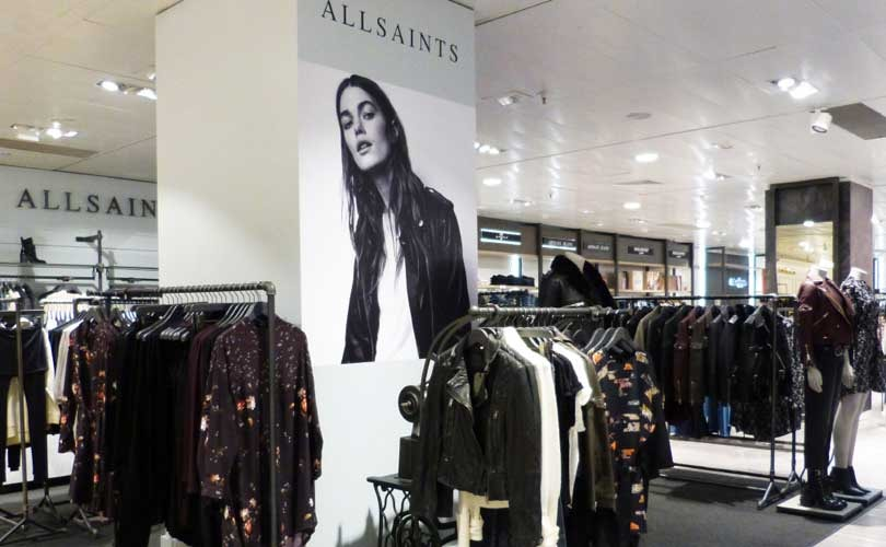 AllSaints continues to target overseas expansion