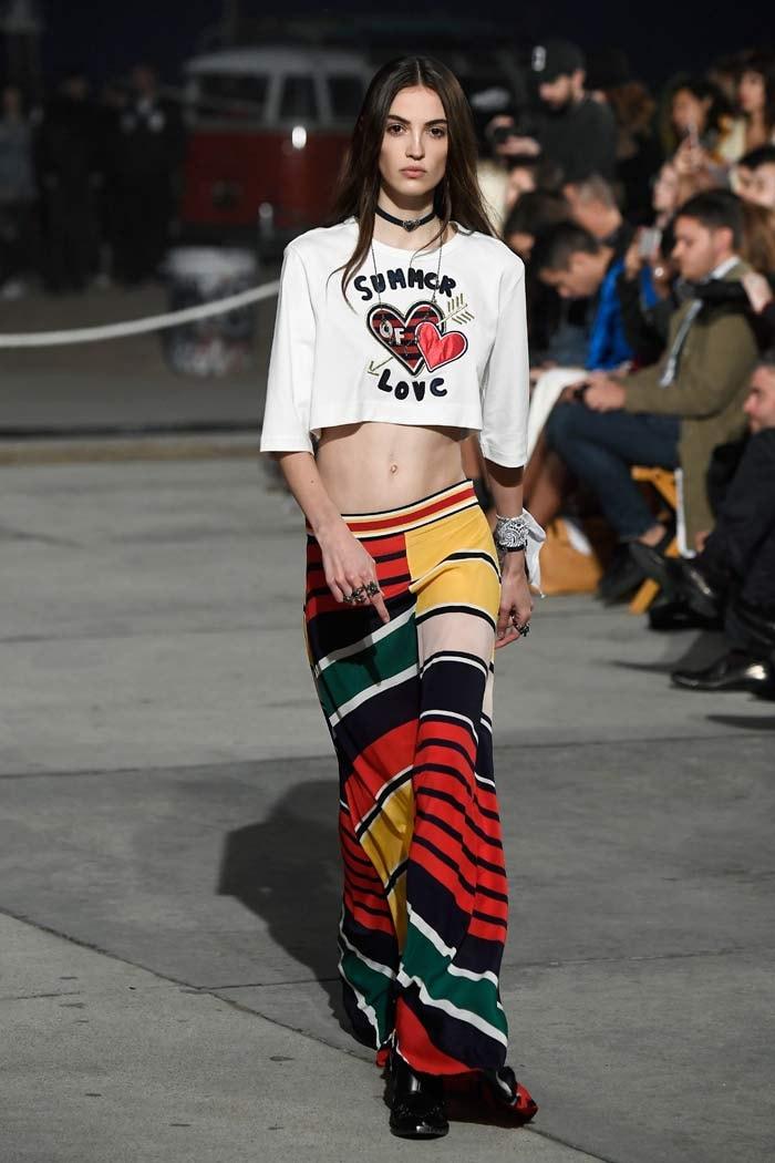 Tommy Hilfiger models sport white bandanas for unity