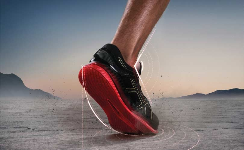 c1b4e718437d6 Asics has unveiled a new shoe promising to reduce energy loss at the ankle  joint by almost one fifth, allowing wearers to run long distances easier.