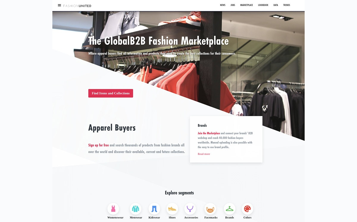 Over 3.000 fashion wholesale brands on FashionUnited Marketplace